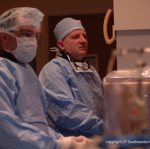 Dr. Warner in Cath Lab