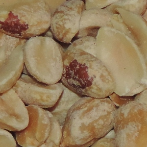 Peanuts unsalted close up