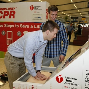 Hands-Only CPR Training Kiosk Indianapolis International Airport