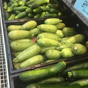 Zuchinni and cucumbers