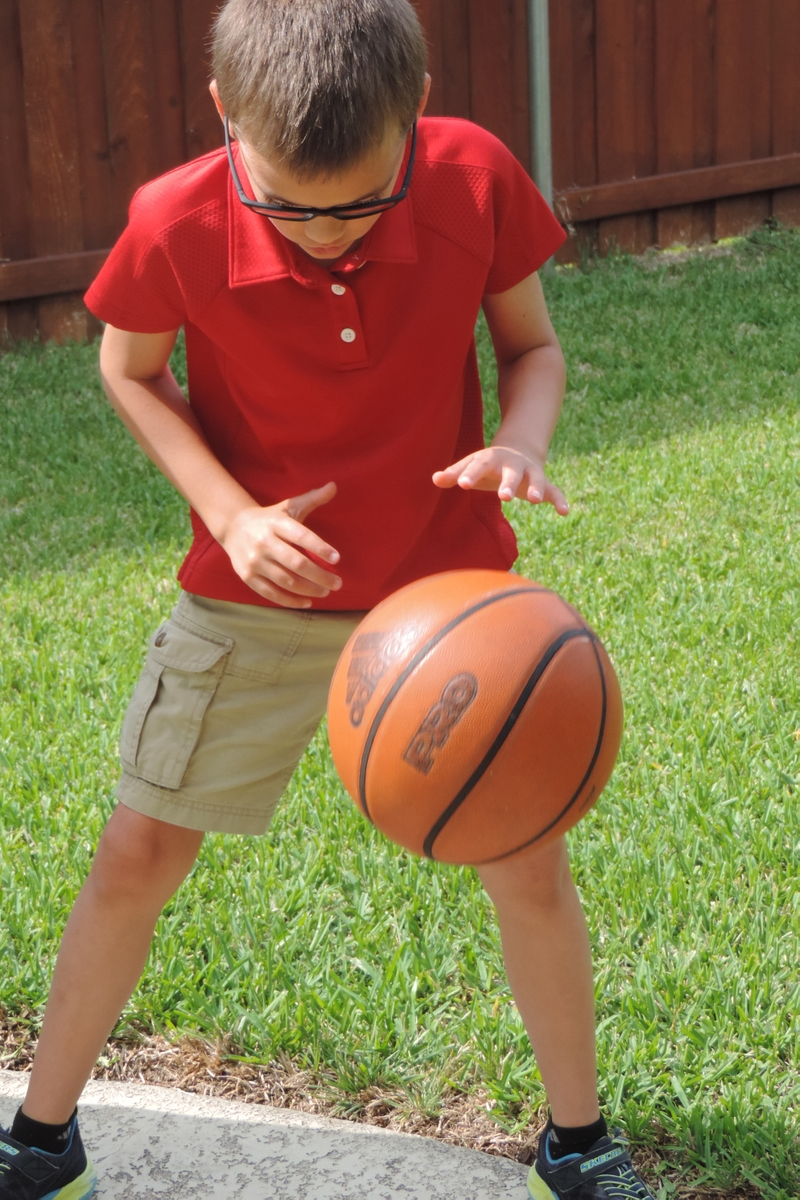 Boy with basketball