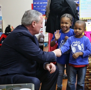 Jim Kenney, Mayor of Philadelphia, at Your Child's World Learning Center