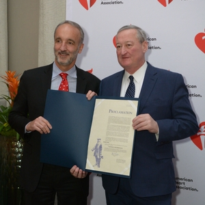Dr. Williams Gray and Mayor Jim Kenney
