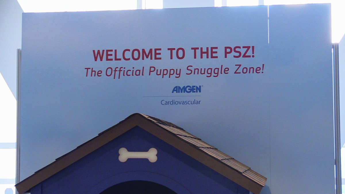 Puppy snuggle zone sign