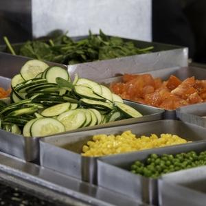 Cafeteria salad bar