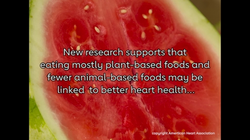 Eating more plant-based foods may be linked to better heart health