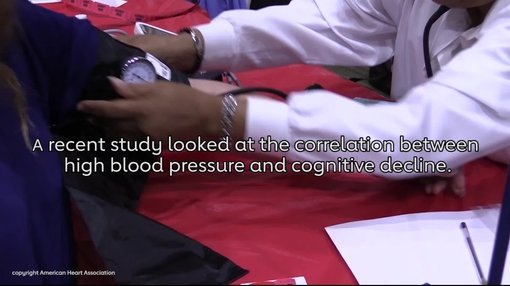 High Blood pressure treatment may slow cognitive decline video