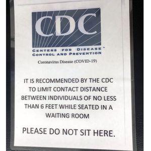 COVID-19 CDC signage