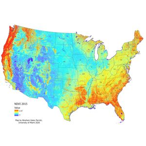 Aitken NDVI Map of the United States