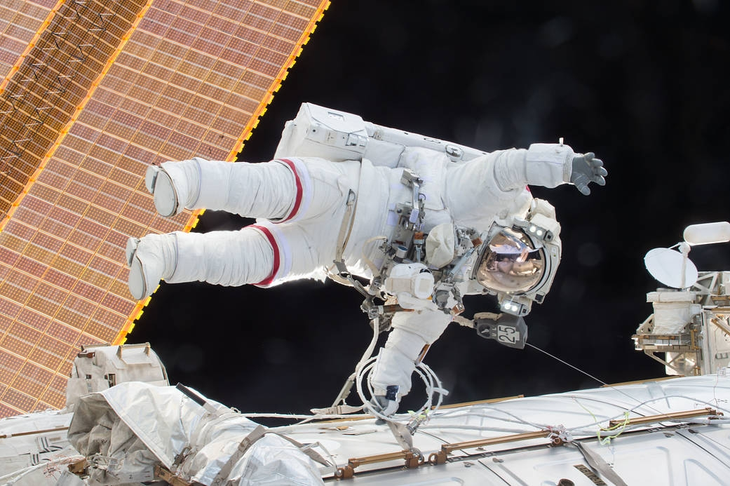 Astronaut Scott Kelly on a Spacewalk