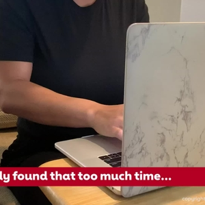 Too much time on a computer watching TV or other sedentary activities raises stroke risk - video