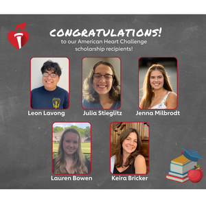 Scholarships awarded to 5 students committed to wellness
