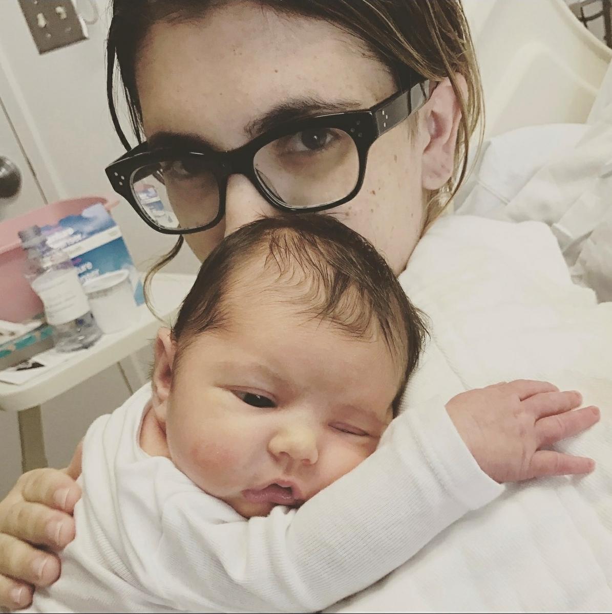 Jaime Hindlin and daughter