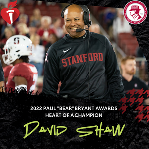 """Stanford's David Shaw named """"Bear"""" Bryant Heart of a Champion Award recipient"""