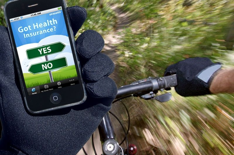 eHealth Mobile App Mountain Bike