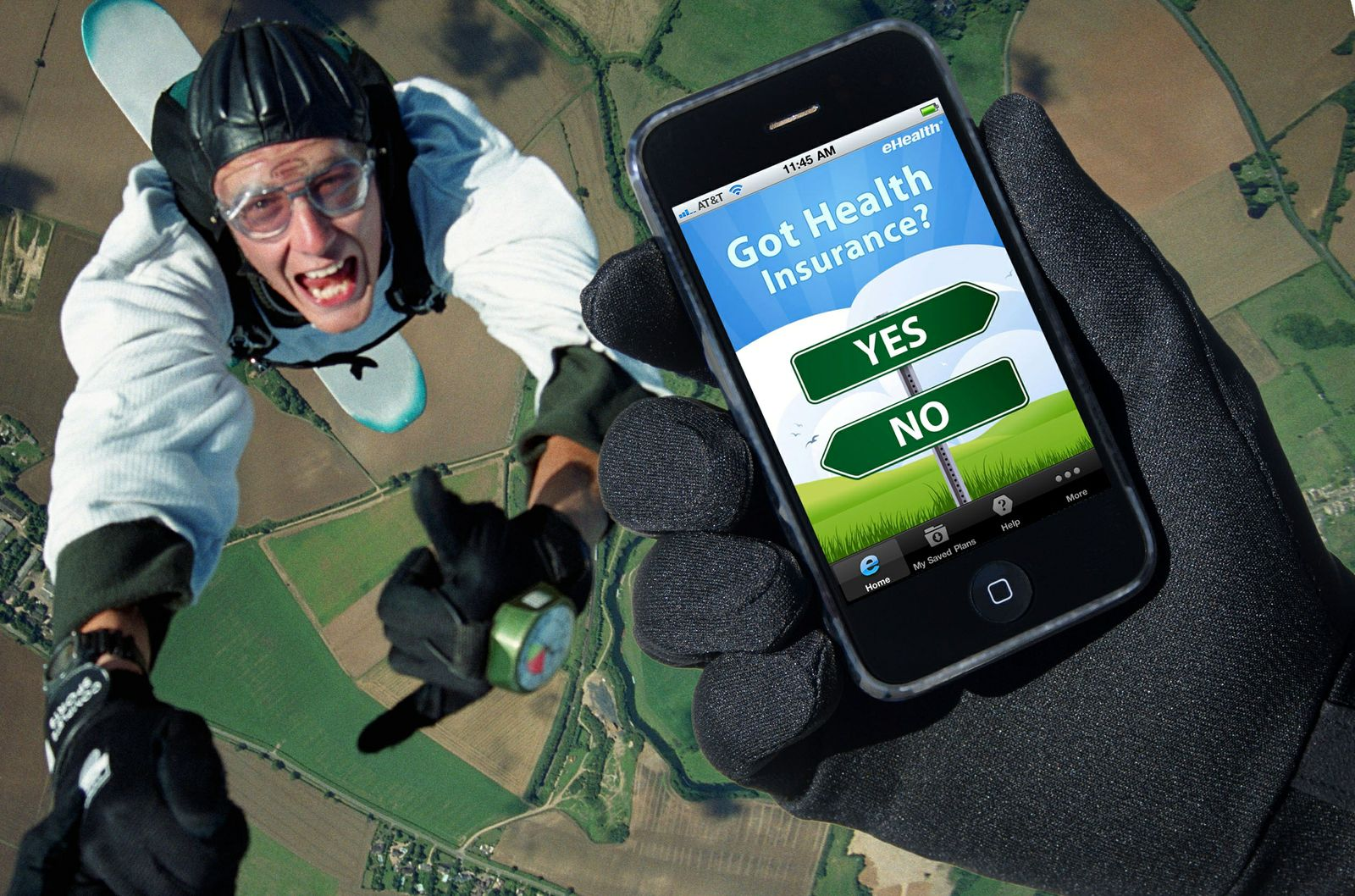 eHealth Mobile App Skydiving