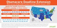 Obamacare Deadline Extension without Subsidies Map (2015)