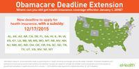 Obamacare Missed Deadline Extension Map (2015)