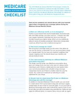 Medicare Annual Election Checklist for 2015