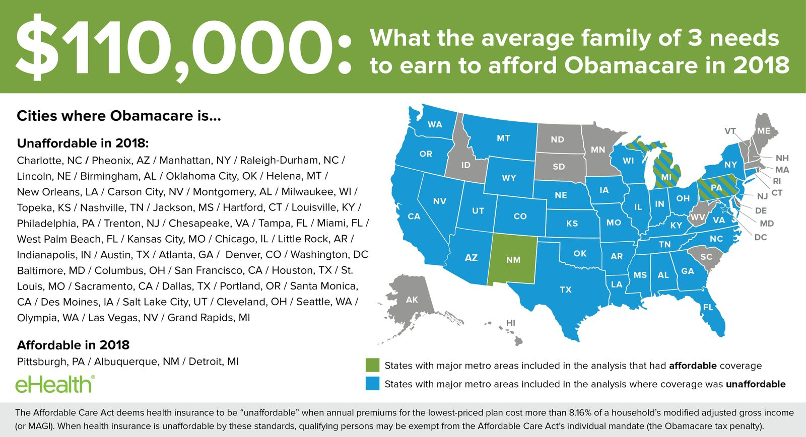 Obamacare Affordability Map 2018