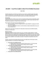 REPORT eHealth - Short-Term Low Price Leader