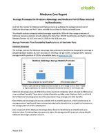 eHealth Medicare Report - Average Premiums Medicare Advantage and Medicare Part D Plans