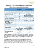 Brief Guide to Short-Term Coverage