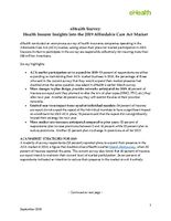 eHealth Survey - Health Insurance Insights into the 2019 ACA Market