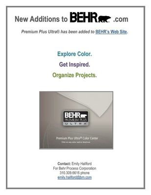 Update to BEHR.com - April 2010