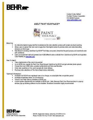 BEHR Paint Your Place Overview
