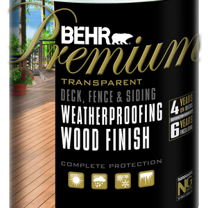BEHR Transparent Weatherproofing Wood Finish