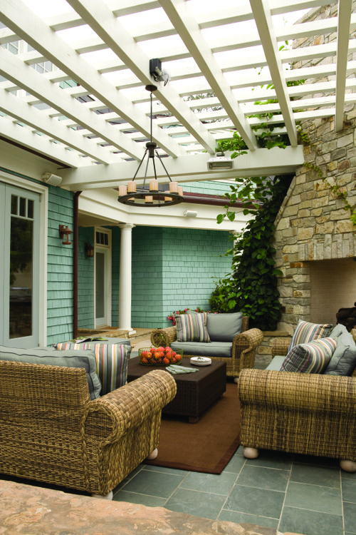 BEHR Paints Casual Comfort Exterior Sitting Area