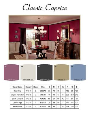 Behr 2013 Color Trend RGB Values