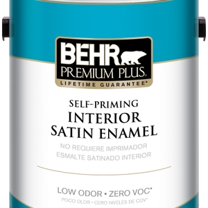 BEHR Premium Plus Self-Priming, Zero VOC and Low Odor Interior Paint Satin Enamel