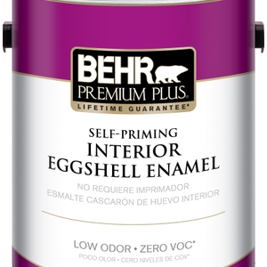 BEHR Premium Plus Self-Priming, Zero VOC and Low Odor Interior Paint Eggshell Enamel
