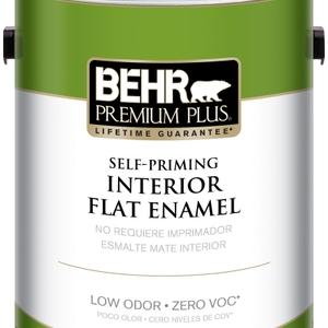 BEHR Premium Plus Self-Priming, Zero VOC and Low Odor Interior Paint Flat Enamel
