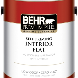 BEHR Premium Plus Self-Priming, Zero VOC and Low Odor Interior Paint Flat