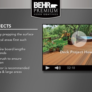 BEHR Exterior Wood Care Center -Deck Projects