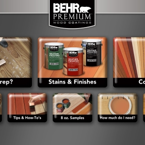 BEHR Exterior Wood Care Center -Main Menu