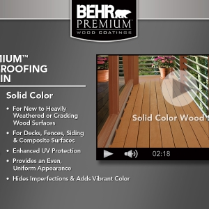 BEHR Exterior Wood Care Center -Application