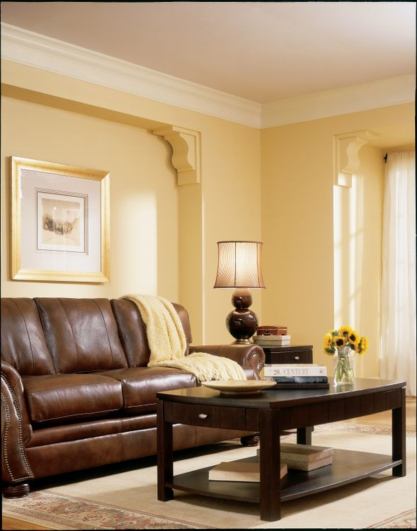 BEHR Paints Yellow Living Room