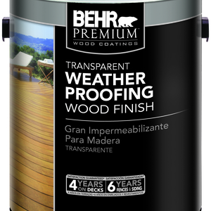 Transparent Weatherproofing Wood Finish