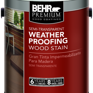 Semi-Transparent Weatherproofing Wood Stain