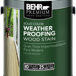 Solid Color Weatherproofing Wood Stain