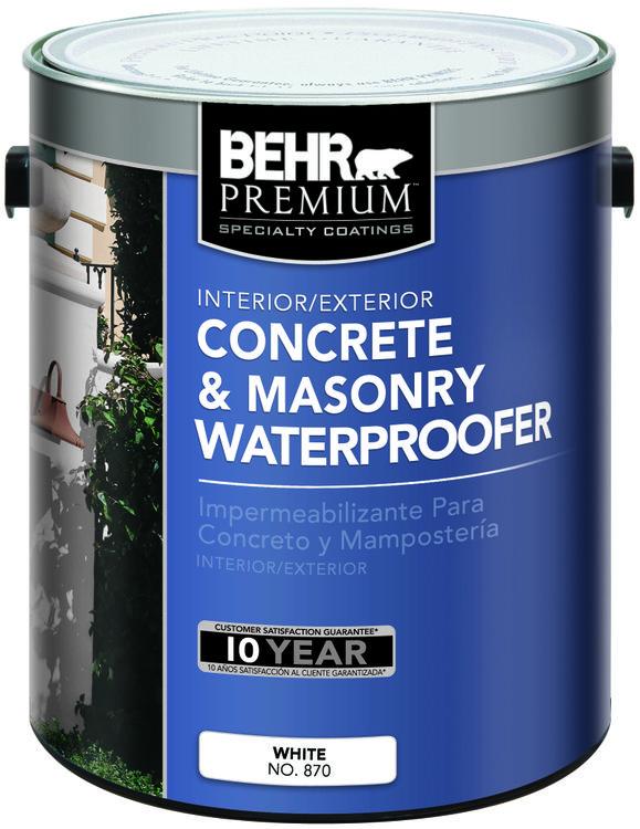 Interior/Exterior Concrete & Masonry Waterproofer