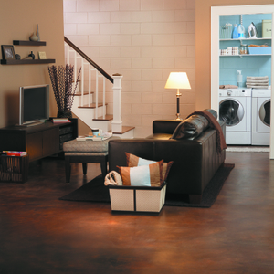 BEHR Paints Basement Family Room