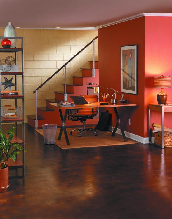BEHR Paints Basement Office
