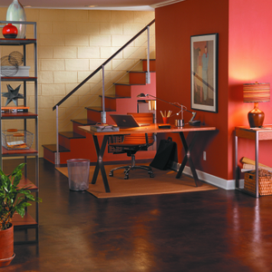 BEHR Paints Basement Office