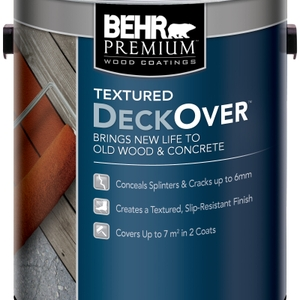 Introducing New Behr Premium Textured DECKOVER, the Groundbreaking Solid Colour Coating to Resurface and Revitalize Weathered Wood, Concrete and Composites