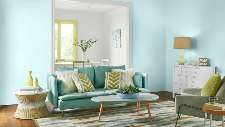 Living Room, Comfortable Palette